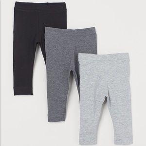 3 Pack Soft Pima Cotton Leggings